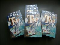 TDK 180 Blank Video Tapes