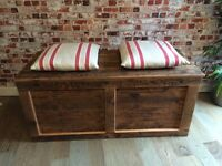 Gorgeous chest/trunk made from reclaimed wood, toy chest, blanket box, storage box, coffee table