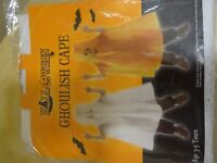 KIDS WHITE GHOULISH GHOST CAPE - AGE 3-5 YRS - NEW IN PACKAGING