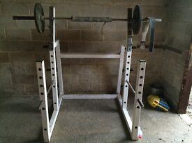 heavy duty squat rack and heavy duty mercy multi gym and shoulder press