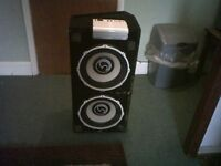 bass face 12 inch twin subwoofer ex condition