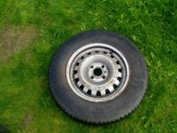 VAUXHALL ASTRA G MK4 WHEEL 4 HOLE AND MICHELIN TYRE WITH GOOD TREAD