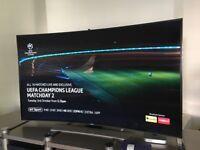 "Samsung UE78HU8500 Curved 4K Ultra HD 3D Smart TV, 78"" with Freeview/Freesat HD."