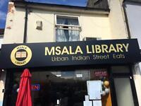 Msala Library. Waitress and Dishwashers. Needed