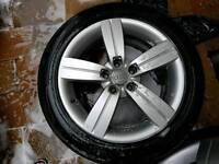 17 INCH AUDI ALLOY WHEELS ..A3 A4 A5 A1 TT Sline Volkswagen passat golf seat leon skoda polo