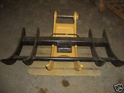 Tree Stumper And Rake Small Loader Backhoe Excav Usa Attachments
