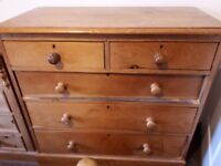 Antique pine drawers