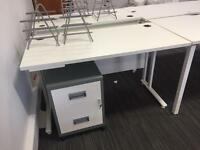 Small white office desk