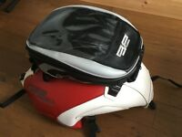 CB1300 leather tank cover & clip on tank bag