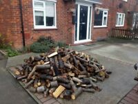 Fire wood, logs loose truck load two builders bags