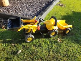 Childs pedal JCB tractor toy