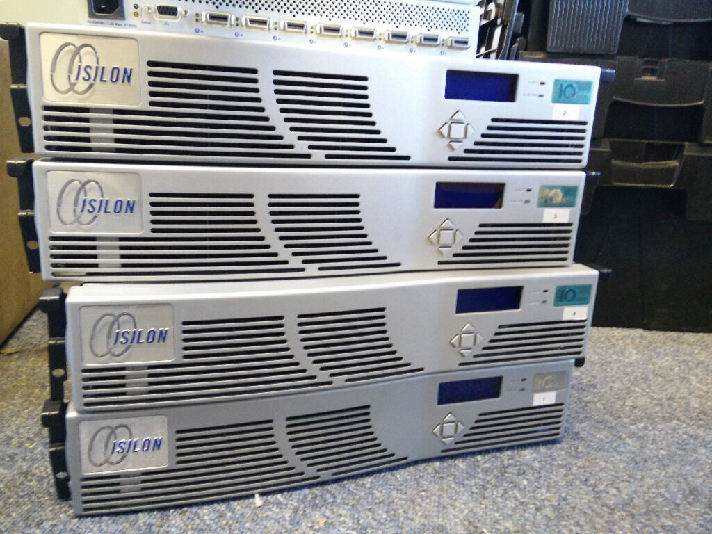 SAN JOB LOT 4 X ISILON IQ6000x 1x IQ12000x HDD Full, mounts,switches + Spares