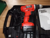 BLACK&DECKER 9.6 volt cordless drill