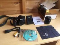 Nikon d3300 damaged for parts including lens etc