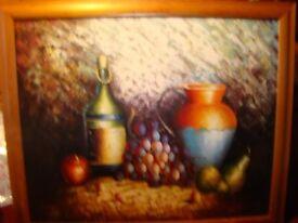Oil still life painting
