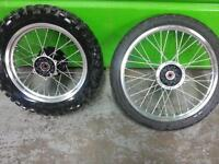 kawasaki 650 2011 wheels and rim set