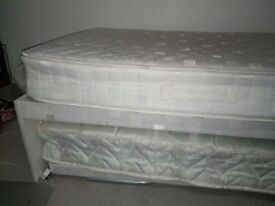 Single bed with guest trussle x 2 mattresses