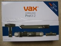 Vax Cordless ProKit 2 accessories boxed - New