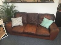 3 SEATER LEATHER SOFA - WELL USED BUT COMFY! ONLY £20