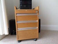 Real Solid Oak Drawer Unit For Sale