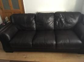 DFS sofa suite with foot stool