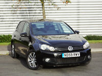 Volkswagen Golf 1.4 S 5dr Black, One Owner, Full Service History with Fresh Service & MOT, Extras..