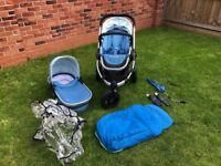 iCandy Peach Jogger Pushchair and Carrycot Gumdrop Blue
