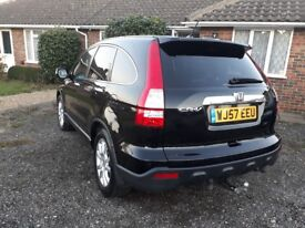 HONDA CR-V 2.2 EX I-CDTI 2007 (57) BLACK. MANUAL. ADVANCED SAFETY PACK. LOW MILEAGE