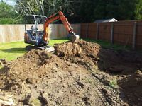 Mini Digger Hire With Operator - Suffolk