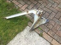 Galvanised Plough/CQR-style anchor 35lbs