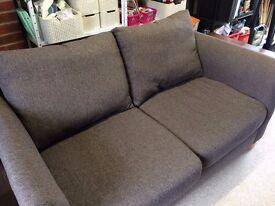 Next Grey Fabric Two Seater Sofa - Light Grey