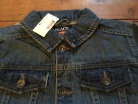 New Washed Denim Boys Jacket 7/8 Yrs, USA Import