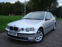 2003 BMW 320 TD SE-Sport Compact,Diesel,SPORT BLACK LEATHER SEATS,147.000 Miles With Service History