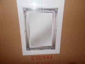 silver ornate mirror 20x30 inches