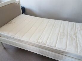 Chateau 3ft single linen bed frame with mattress