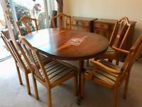 Dinning table & 6 chairs plus 2 cupboards