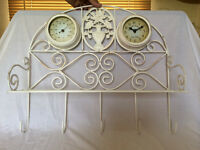 Garden Shelf Clock & Thermometer