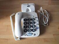 Big button telephone.