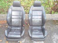 vw golf mk4 recaro leather seats