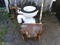 Antique Victorian toilet with High level flush Very Good Condition no marks