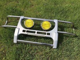 Mitsubishi L200 Stainless Steel Bull Nudge Bar & Spot Lights