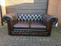 Chesterfield LEATHER 2seater sofa. THOMAS LLOYD. BARGAIN!