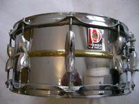 "Premier Model 21 COB snare drum 14 x 6 1/2"" - Leicester - '80s - LUDWIG 402 HOMAGE- original version"
