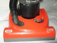 Vax 1700 watt Turbo Force (Bagless) (POWER, POWER!!! heavy duty) vacuum cleaner. £40.00