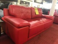 3 + 2 Red sofas