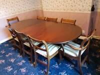 mahogany table plus 8 chairs##must go today ##
