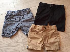 5 pairs baby boy summer shorts bundle