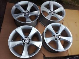 """BMW X6 20"""" 259 M SPORT 5 STAR SPOKE ALLOY WHEELS E71 E72"""