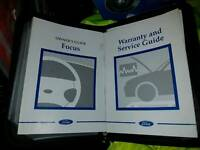 Ford focus car folder / books