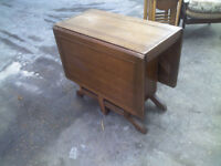 LARGE FOLDING OUT/IN ANTIQUE TABLE WITH 2 END DOORS